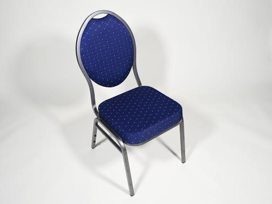 KOMBIPREIS: Polsterstuhl blau inklusive Stuhlhusse zum Binden weiß