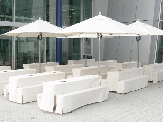 Biertisch Husse 220 x 50 cm weiß