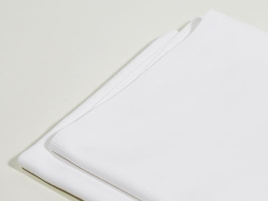 Mundserviette weiß 50 x 50 cm zur Bischofsmütze gefalten