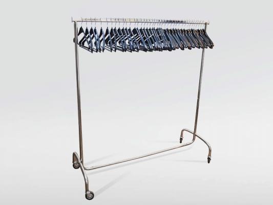 Kleiderständer / Rollgarderobe für bis zu 40 Kleiderbügel