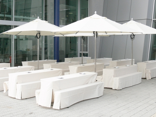 Biertisch Husse 220 x 70 cm weiß