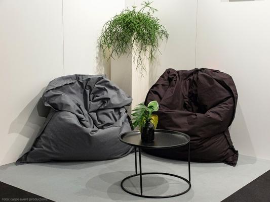 Sitzsack 140 x 180 cm grau