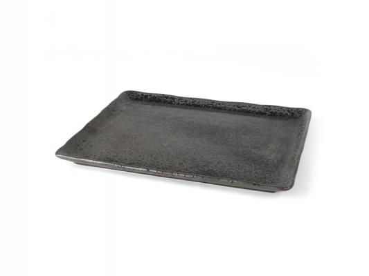 """Porzellan Platte 33 x 27 cm """"Carbon"""""""
