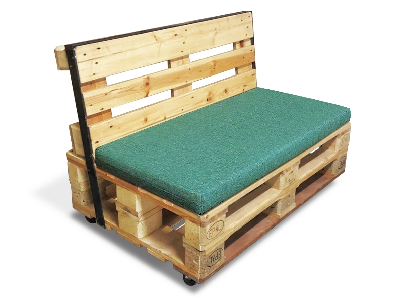 Paletten-Sofa Zweisitzer gepolstert