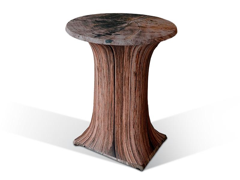 stretchhusse f r stehtisch in holzoptik. Black Bedroom Furniture Sets. Home Design Ideas