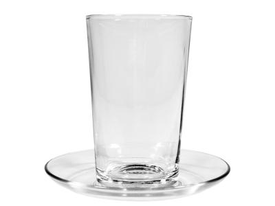 Latte Macchiato Glas mit Untertasse