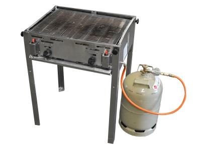 KOMBIPREIS: Gas Grill inkl. Standfüße und Gas-Flasche
