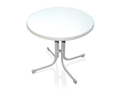 Bistro Tisch weiß Ø 80 cm