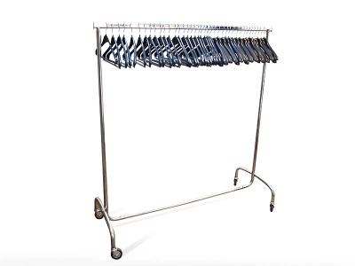 KOMBIPREIS: Kleiderständer / Rollgarderobe + 40 Kleiderbügel