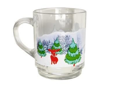 Glühweinbecher mit Weihnachtsmotiv