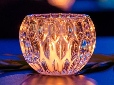 Windlicht Kristall