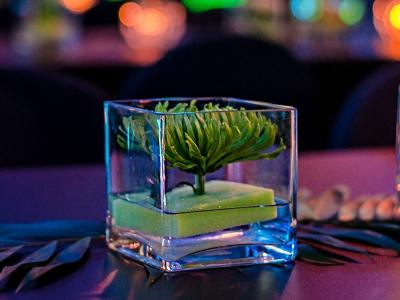 Windlicht/Vase eckig