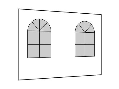 Seitenwand mit Fenster für Pavillons
