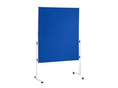 Moderationswand / Pinnwand blau